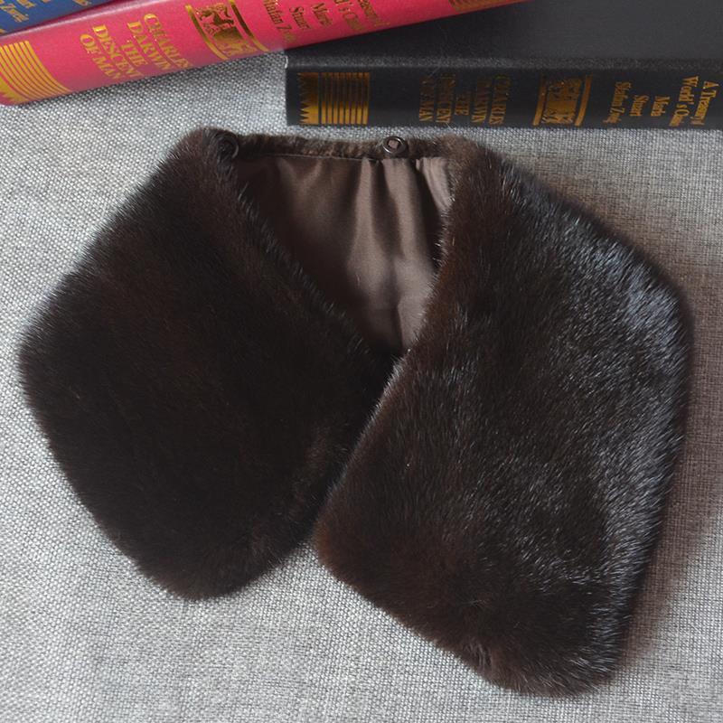男士奢华进口水貂毛领子冬季男士真毛领皮衣大方领尼克服貂皮领子