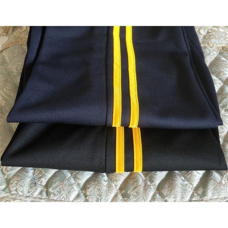 小学生校服裤子两道杠校服裤初高中生运动裤男女同款藏蓝白杠校裤