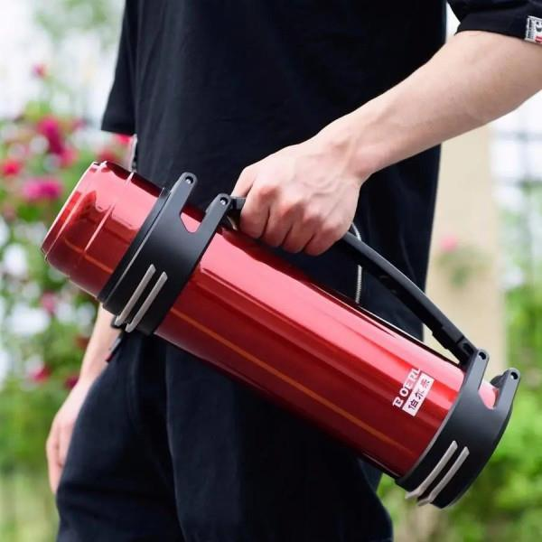 伯尔乐保温杯男大容量保温壶户外保冷壶热水瓶车载旅行水壶1.2-3L
