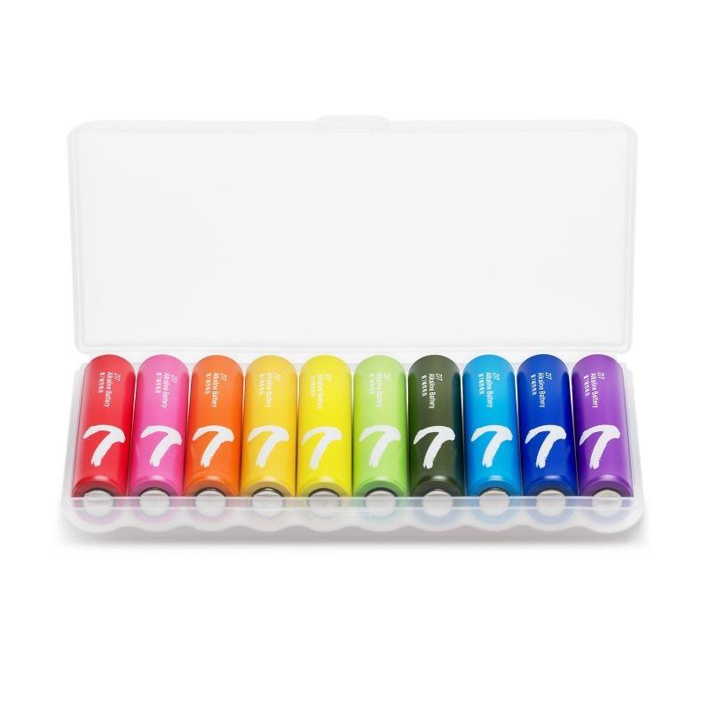 小米生态链,无汞无镉:紫米 彩虹 5号/7号20粒装 碱性电池