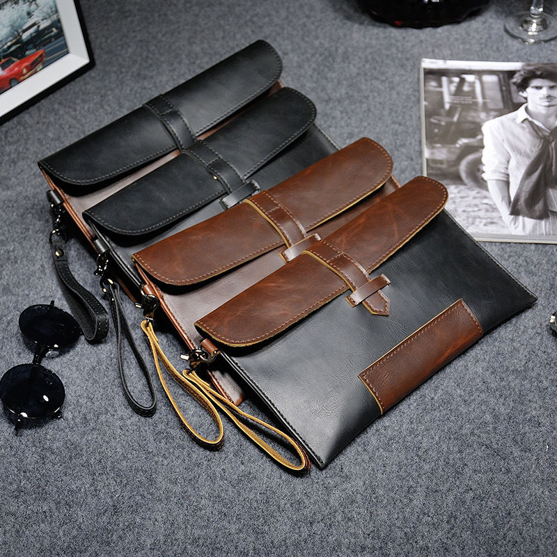 原创设计个性复古信封手拿包男女2021新款韩版时尚休闲手机手抓包