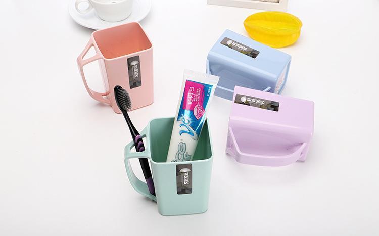 洗漱杯家用简约漱口杯创意刷牙杯套装牙缸宿舍塑料口杯牙刷杯杯子