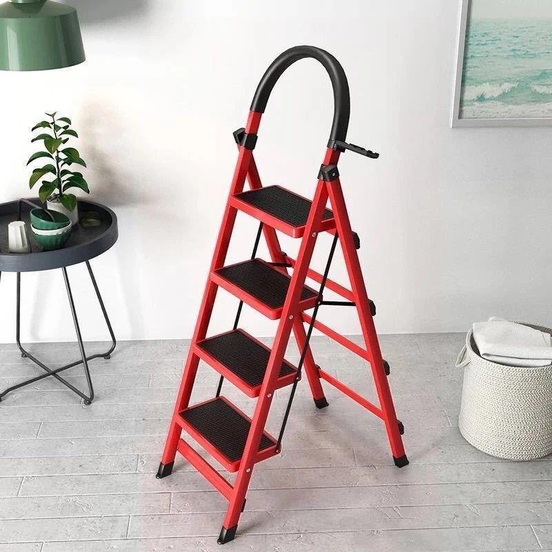梯子家用折叠梯加厚碳钢人字梯移动楼梯伸缩梯步梯多功能室内梯子【3月3日发完】