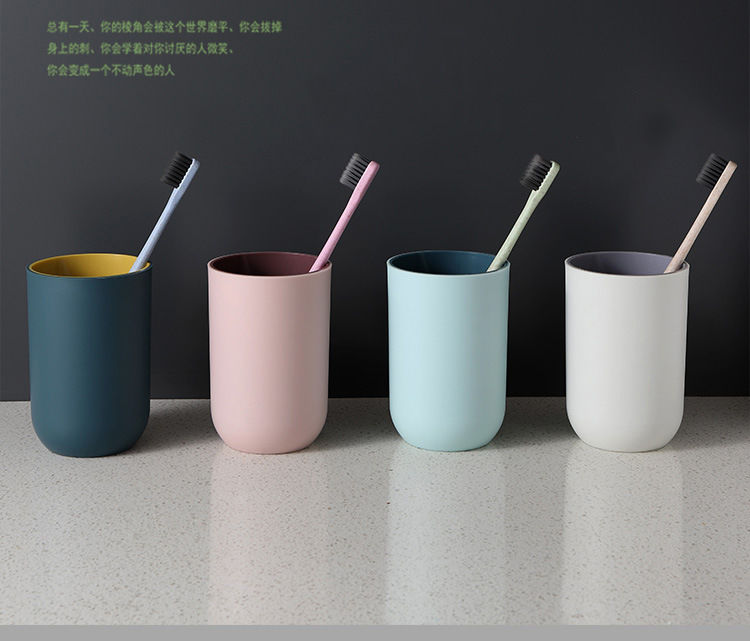防摔漱口杯牙刷杯杯子女水杯家用学生旅游韩版可爱欧式创意牙缸