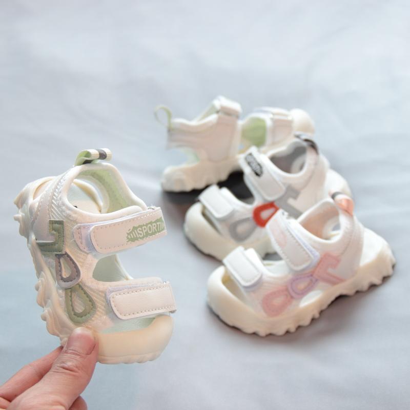 宝宝包头凉鞋软底防滑夏季婴幼儿学步鞋1一2岁透气男女幼童沙滩鞋