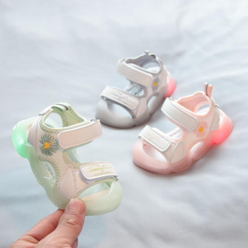 宝宝包头凉鞋女0-1-3一岁2婴儿软底学步鞋夏季男童小童沙滩鞋软底