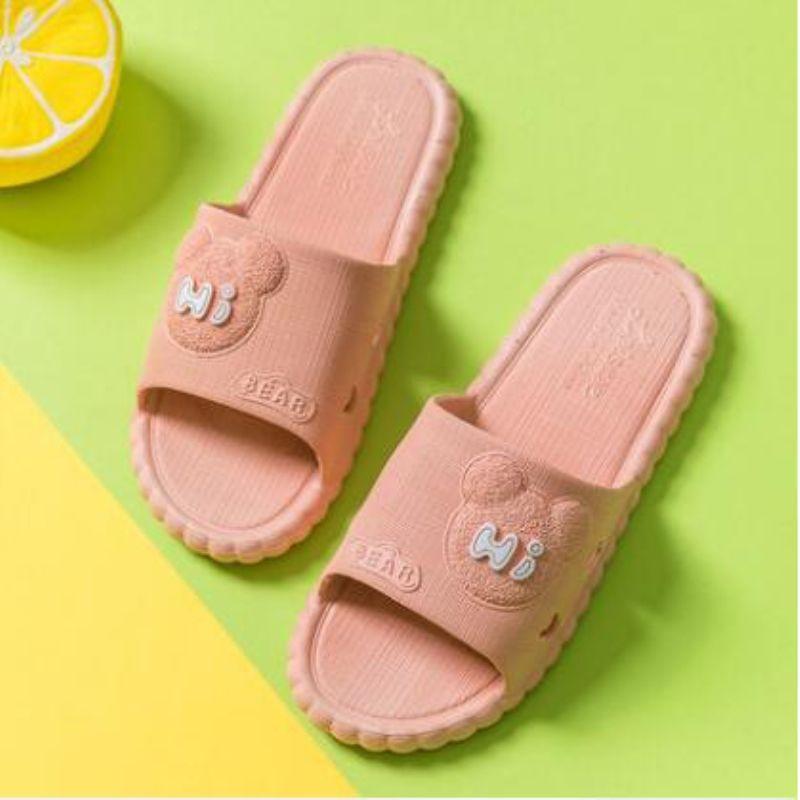 新款小熊熊凉拖鞋女家用夏天室内防滑居家洗澡情侣可爱男夏季拖鞋