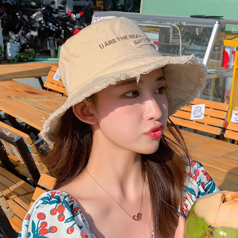 韩版帽子女时尚新款太阳帽渔夫帽百搭网红款遮阳帽防晒紫外线潮帽