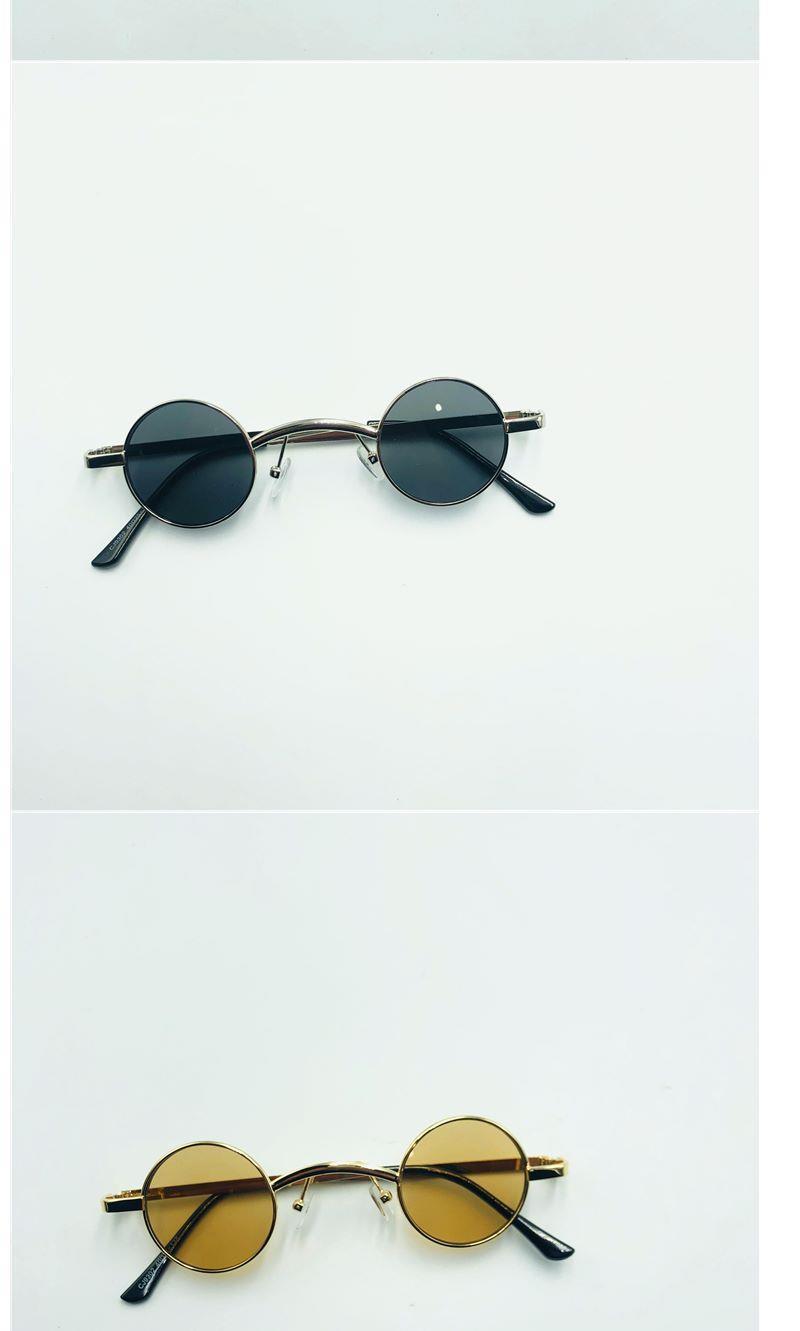 35mm超小圓形墨鏡烏龍院郝劭文吳孟達同款圓框太陽鏡個性朋克眼鏡 時尚 心秀小鋪
