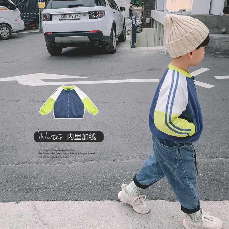 男大童冬装大衣 青少年棒球服外套 男童加绒棉服儿童韩版棉衣