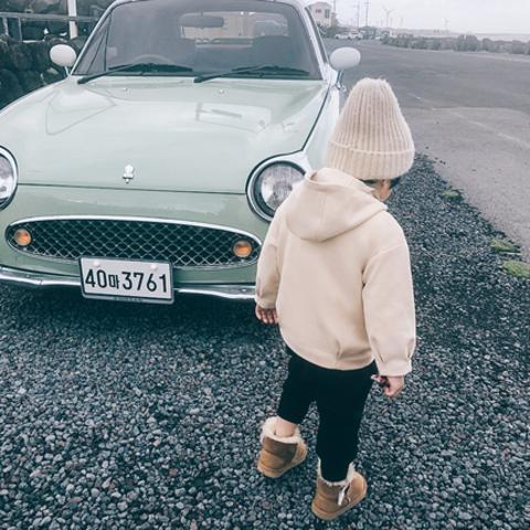 男中大童外套冬装新款儿童重工风夹克厚宝宝韩版呢大衣男孩子