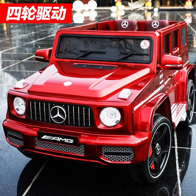 奔驰G65儿童电动车1-3-6岁超大越野车充电可坐双人 四轮遥控汽车