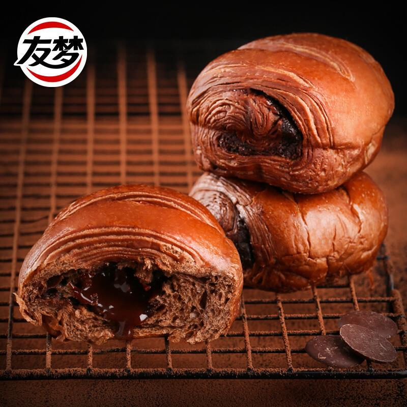 友梦脏脏包面包网红爆浆巧克力夹心早餐零食蛋糕点心整箱400g8个
