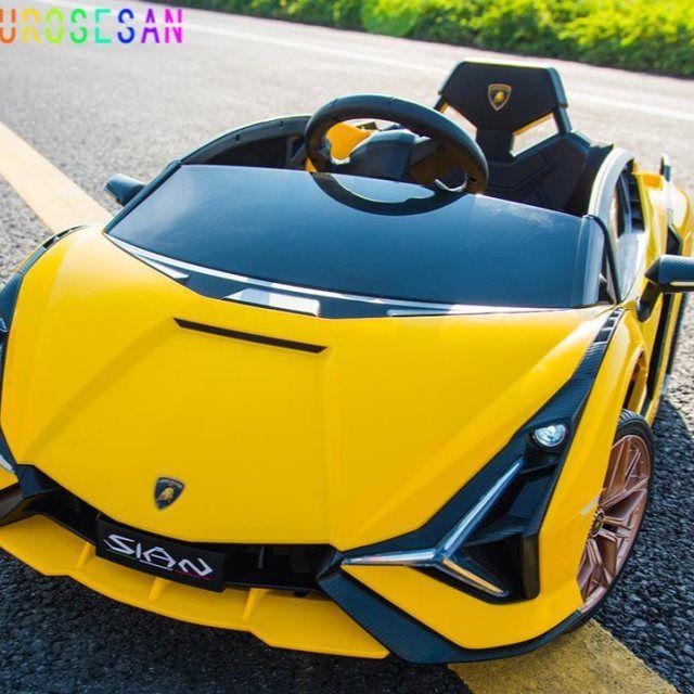 OUROSESAN兰博基尼儿童电动车带遥控四轮玩具车可坐大人宝宝汽车