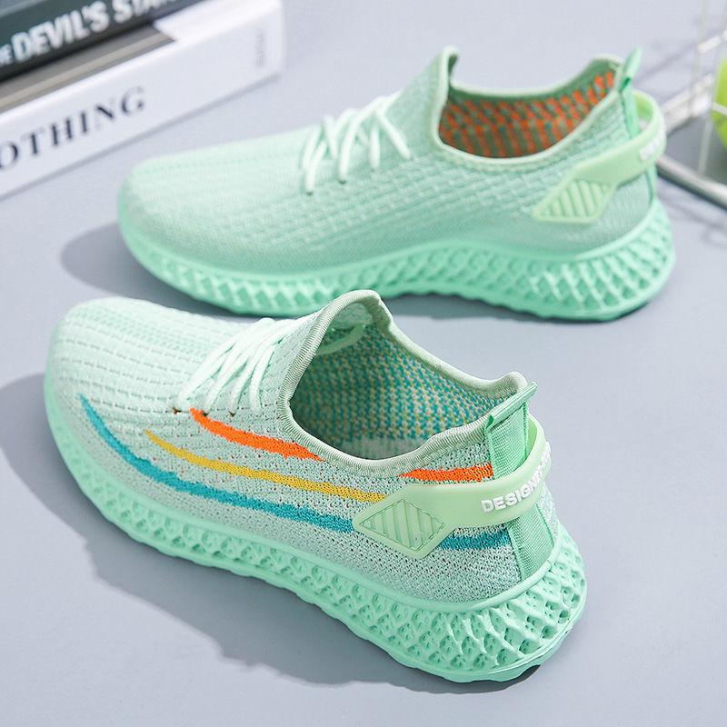 女鞋新款2021夏季单鞋夏季网面运动鞋跑步鞋透气轻便女INS椰子鞋A【4月27日发完】