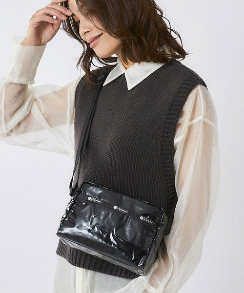 [上新]LeSportsac  時尚亮光方形布包降落傘面料女款小方單肩斜挎包2434