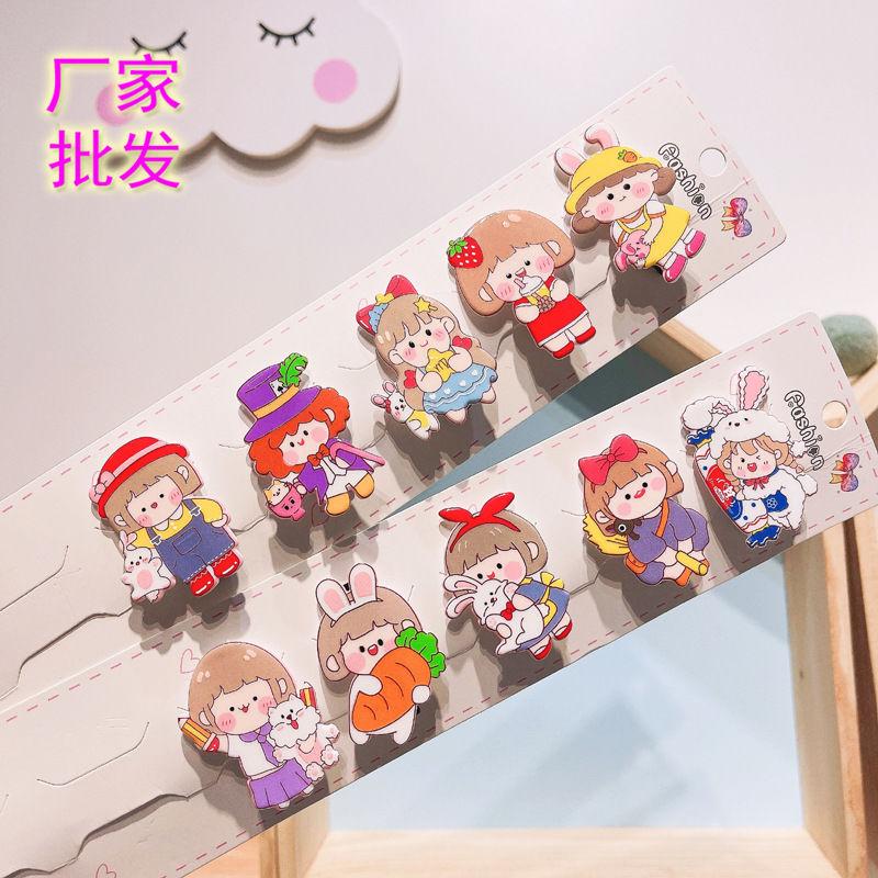 正品肉肉酱卡通发夹韩国儿童头饰可爱动漫鸭嘴夹学生边夹