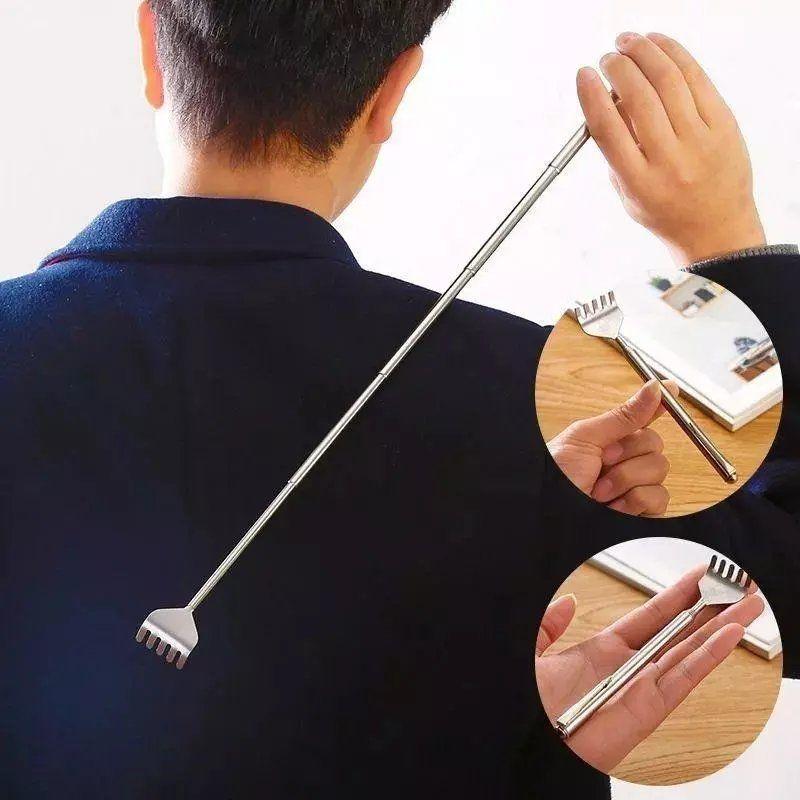 不锈钢便携可伸缩痒痒挠不求人老头乐挠痒扒抓背耙子抓痒器
