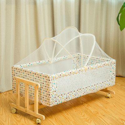 02岁宝宝加粗实木小摇床