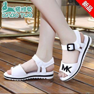 【搭啵兔】3-16岁女童凉鞋2020新款沙滩鞋韩版中大童平底公主鞋