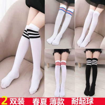 春秋夏薄款儿童中筒袜女童长筒袜宝宝过膝袜高筒袜白色高筒袜丝袜