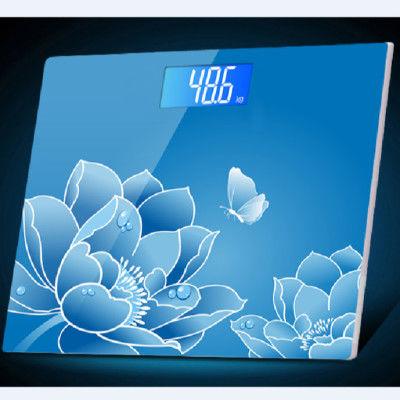 增杰超大玻璃面板液晶显示成人电子秤家用人体秤健康秤减肥体重秤