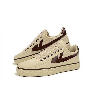 上海回力鞋正品男鞋米色咖啡低帮学生运动鞋女鞋休闲帆布鞋牛筋底