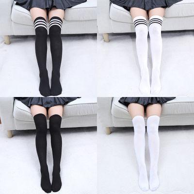 1双2双过膝袜子女长袜纯棉高筒日式学院风jk制服学生裙袜大腿cos