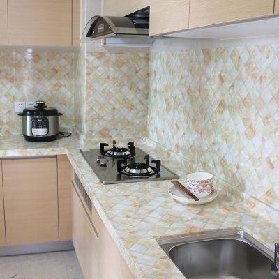 新款仿大理石纹贴纸自粘墙纸厨房防油贴浴室卫生间橱柜灶台面防水
