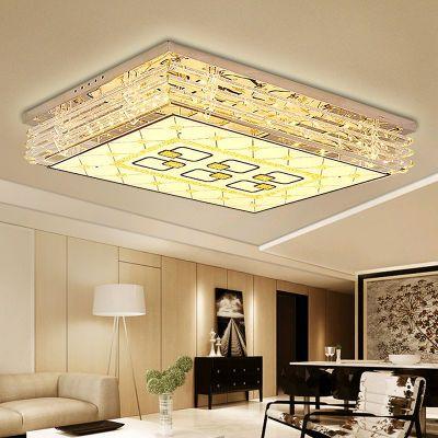 缔光者 led吸顶灯长方形大气别墅家用客厅大灯具简约现代水晶