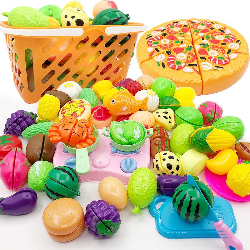【带西瓜】儿童切水果玩具小男女孩过家家仿真蔬菜水果宝宝切切乐