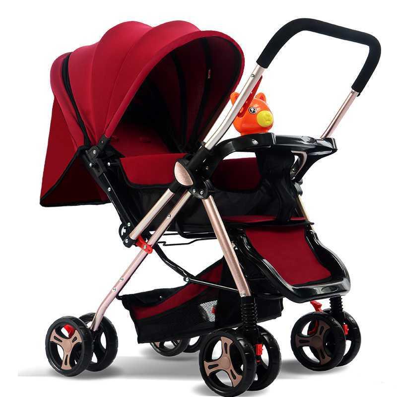 婴儿车推车儿童宝宝小孩可坐可躺超轻便携折叠双向高景观手推车子