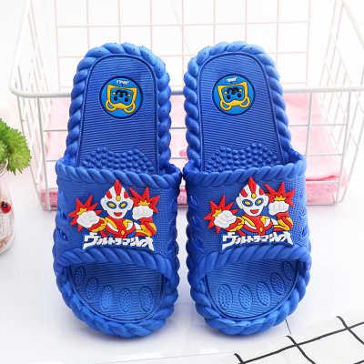 儿童凉拖鞋男女童中大童鞋家居厚底防滑软底浴室一字拖夏季奥特曼