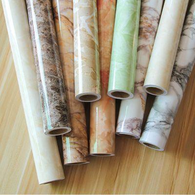加厚大理石纹贴纸厨房防油防水橱柜灶台面耐高温自粘家具翻新壁纸