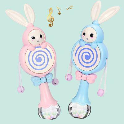 拨浪摇鼓婴儿摇铃玩具可啃咬音乐节奏棒0-3-6-12个月8宝宝益智1岁