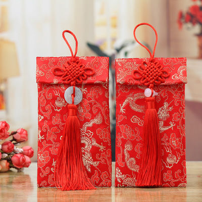 吉迅 高档中式绸布万元红包 结婚红包利是封创意布包 锦缎红包袋