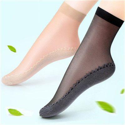 【10双】夏女短款丝袜棉底透气不臭不勾丝中筒丝袜