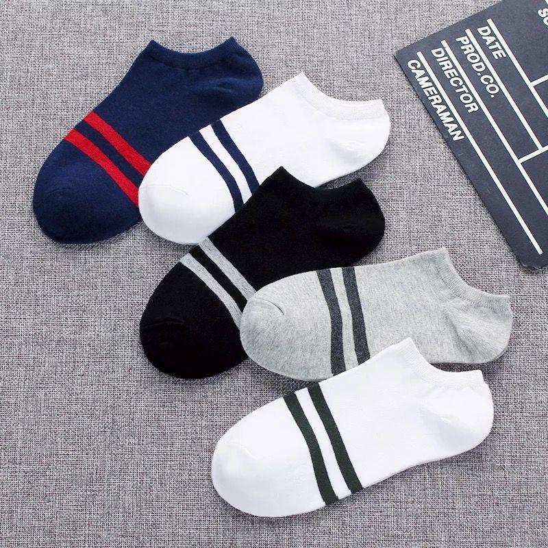 便宜的【10双装】袜子春夏季男袜短袜船袜男低帮男士浅口运动短筒中筒袜