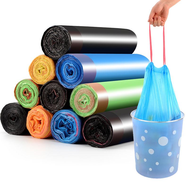 【买2件送2卷】家庭常用加厚不脏手垃圾袋手提式抽绳一次性垃圾袋