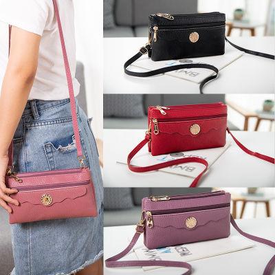 新款韩包袋放时尚女包双层钱包手机零钱包手拿包小包斜挎包单肩包