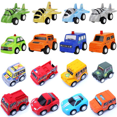 儿童卡通回力车玩具迷你工程小汽车模型男孩耐摔惯性车宝宝挖掘机