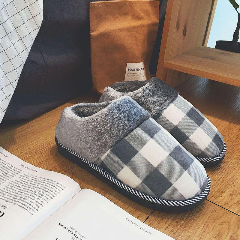 冬季棉拖鞋女包跟厚底情侣拖鞋防滑保暖月子鞋冬天毛毛拖鞋男潮流