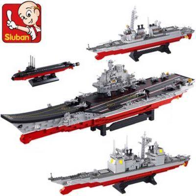 兼容乐高军舰辽宁号航母模型 启蒙军事航空母舰 拼装积木儿童玩具