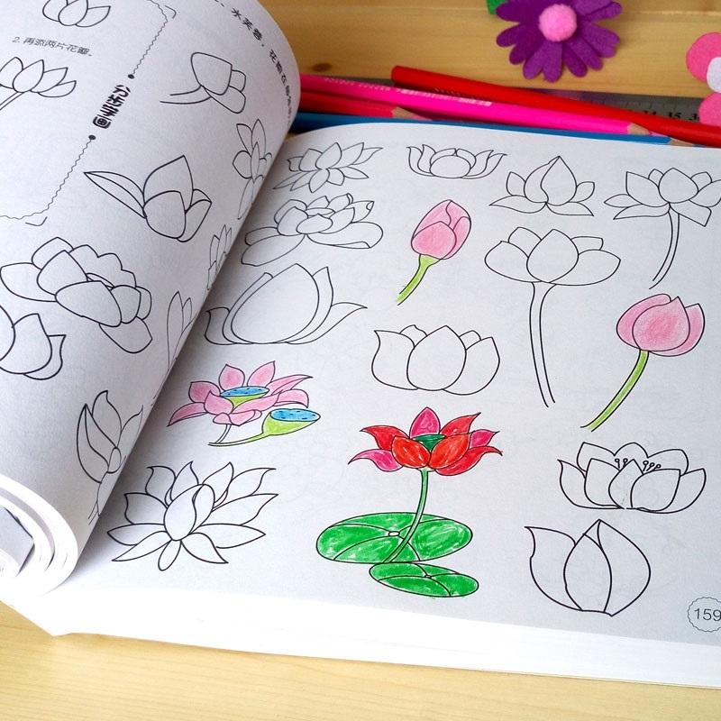 简笔画5000例宝宝涂色本画画书儿童学画画绘画涂鸦本图画册填色书