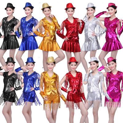广场舞服装新款套装夏啦啦操现代跳舞DS演出服爵士舞舞蹈服女成人
