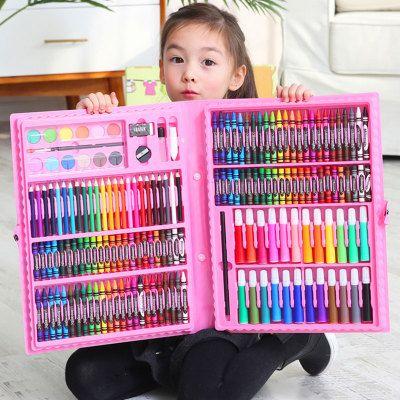 7330/儿童水彩笔绘画套装送画本礼盒画笔蜡笔幼儿园礼物小学生美术用品