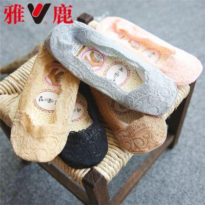 【品彩3/5/10双】蕾丝袜船袜女隐形袜防滑防脱女船袜袜子女丝袜女