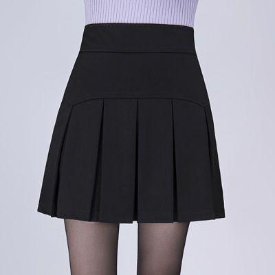 半身裙百褶裙2020春新款百搭显瘦修身大码女裙子韩版高腰黑色短裙