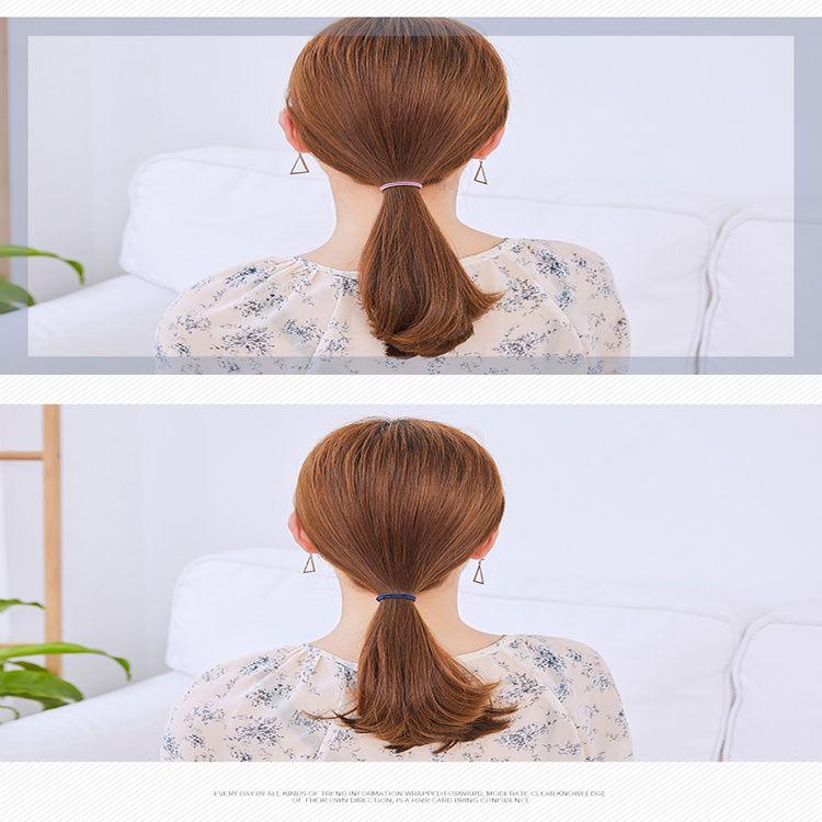 便宜的韩版女细头绳高弹力发圈发绳扎头发橡皮筋头饰发饰简约小清新皮套