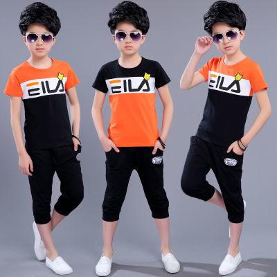 童装男童套装夏装2020新款中大童男孩运动夏季儿童短袖tT��两件套